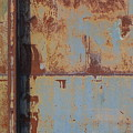 Rust And Pale Blue 3 by Anita Burgermeister