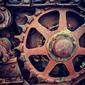 Rusted Tractor Wheel by Gregory Dyer