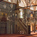 Rustem Pasha Mosque Interior by Bob Phillips