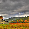 Rustic Autumn Barn by Marion Wear