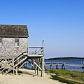 Rustic Boathouse On The Beach. by John Greim