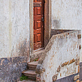 Rustic Brown Door Of Portugal by David Letts