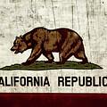 Rustic California State Flag Design by Heather Joyce Morrill