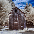 Rustic Farm Building In Infrared by Jeff Folger
