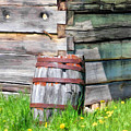 Rustic Rain Barrel At Old World Wisconsin by Christopher Arndt