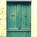 Rustic Teal Green Door by Georgia Fowler