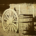 Rustic Wagon And Barrel by Tom Mc Nemar