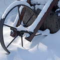 Rustic Wheel In The Snow#2 by BeckerArt