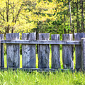 Rustic Wooden Fence At Old World Wisconsin by Christopher Arndt