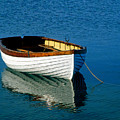 Rustic Wooden Row Boat. by John Greim