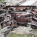 Rusting Antique Cars by Inga Spence