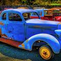 Rusting Blue Car by Garry Gay
