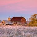 Rusty Barn At Dawn by Theo Tan