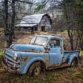 Rusty Blue Dodge by Debra and Dave Vanderlaan