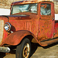 Rusty Chevrolet Pickup Truck 1934 by Douglas Barnett