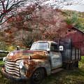 Rusty Chevy Pickup Truck by Debra and Dave Vanderlaan