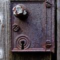 Rusty Door Latch And Lock by D Hackett