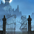 Rusty Gate And A Spooky Dark Castle by Sara Winter