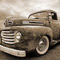 Rusty Jewel In Sepia - 1948 Ford by Gill Billington