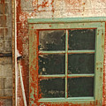 Rusty Lighthouse Window by Donna Blackhall