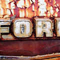 Rusty Old Ford Truck Emblem by Luke Moore