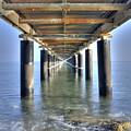 Rusty Pier  On The Ocean  From Below by Michalakis Ppalis