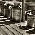 Rusty Western Cans #1 Sepia Tone by Mel Steinhauer