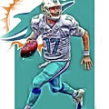 Ryan Tannehill Miami Dolphins Oil Art by Joe Hamilton