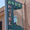 Ryde Hotel Sign by Troy Montemayor