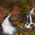 Ryuzu Falls Near Nikko In Japan In Autumn by Sara Winter
