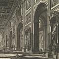 S. Giovanni In Laterano. Interior by Giovanni Battista Piranesi