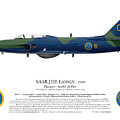Saab J32e Lansen - 32507 - Side Profile View by Ed Jackson
