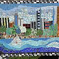 Sacramento City Skyline Mosaic by Nancy McNamer