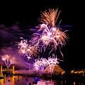 Sacramento Fireworks Composite 1 by Jim Thompson