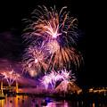 Sacramento Fireworks Composite 2 by Jim Thompson