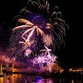 Sacramento Fireworks Composite 3 by Jim Thompson