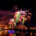 Sacramento Fireworks Composite 4 by Jim Thompson