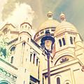 Sacre Coeur Church Vintage Shabby Chic Style by Sandra Rugina