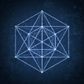 Sacred Geometry  Minimal Hipster Symbol Art by Philipp Rietz