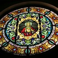 Sacred Heart Of Jesus Stained Glass Window by Elizabeth Duggan
