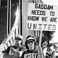 Saddam Needs To Know Pro Desert Storm Rally Tucson Arizona 1991 by David Lee Guss