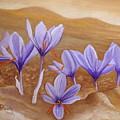 Saffron Flowers by Angeles M Pomata