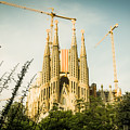 Sagrada Familia With Catalonia's Flag by Alejandro Ascanio