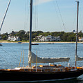 Sail Boat At Hyannis by Donna Cavanaugh