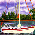 Sail Boat by Stan Hamilton