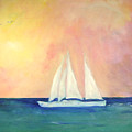 Sailboat - Regatta Of One by Michela Akers