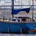 Sailboat And Dingy by Robert Salazar