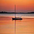 Sailboat At Sunset by John Greim