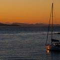 Sailboat At Sunset by NaturesPix