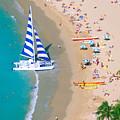 Sailboat At Waikiki by Kyle Rothenborg - Printscapes